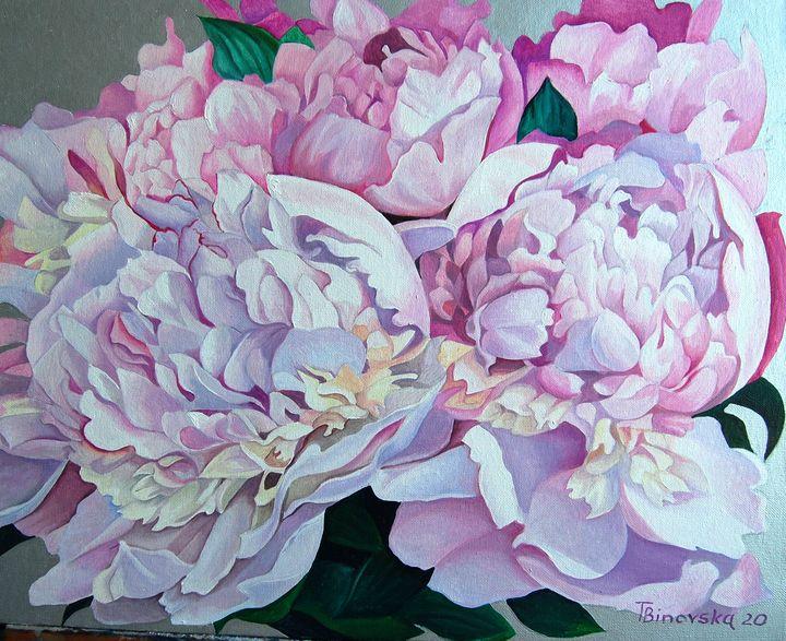 Pink Peonies - Tatyana Binovska Art