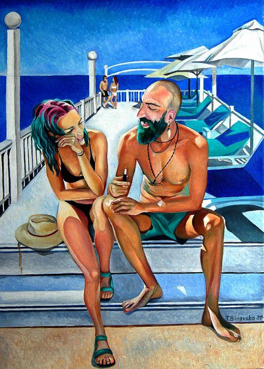 Beautiful Turquase People - Tatyana Binovska Art