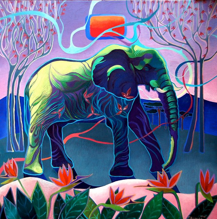 The elephant - Tatyana Binovska Art