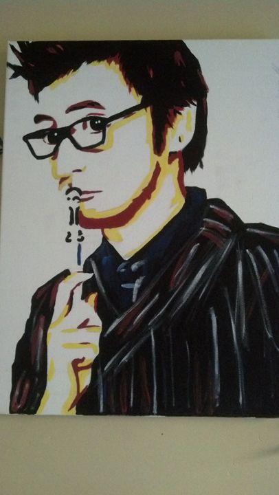 David Tennant Panting - Fictional Characters Artwork