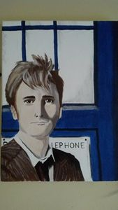 The Doctor And Tardis Painting