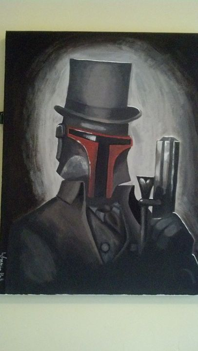 SteamPunk Boba Fett Painting - Fictional Characters Artwork