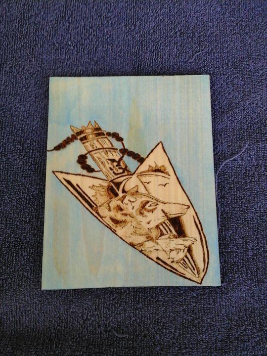 Wolf in Arrow Head - Wood Impressions