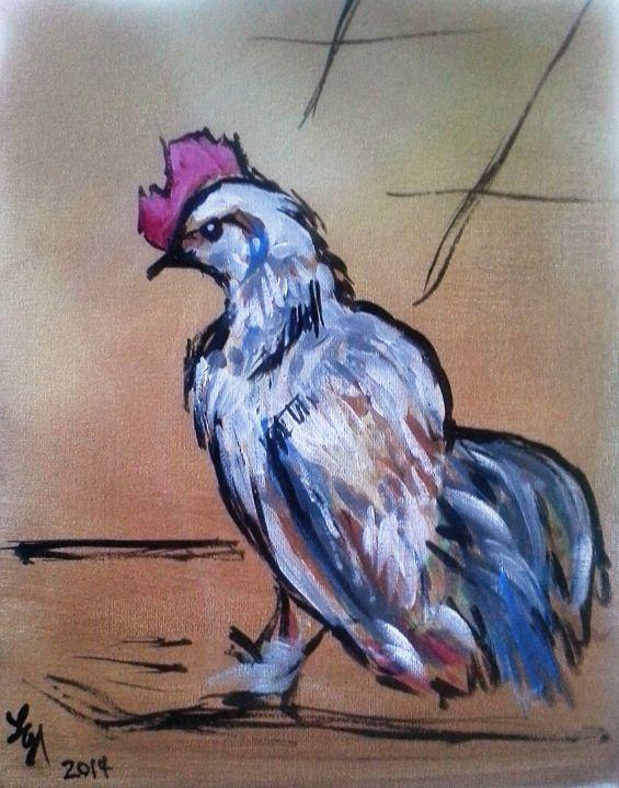 Little White Rooster - LorettaNash