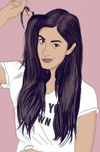 Illustration of Katrina Kaif