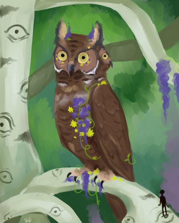 Flower Owl - K. M. Barbee (Crowstien)