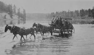 Yellowstone Stagecoach Ride  1915