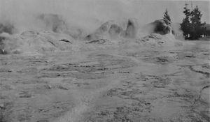 Yellowstone Grotto Geyser 1915