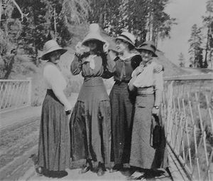 Lovely Ladies at Yellowstone 1915