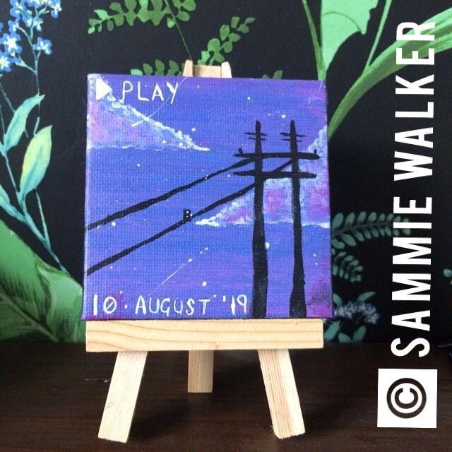 Mini Powerline Canvas - Sammie Walker