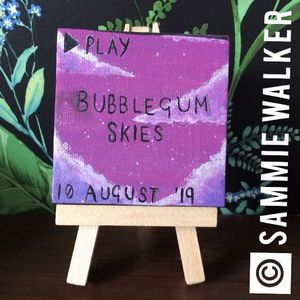 """Mini """"bubblegum skies"""" canvas"""