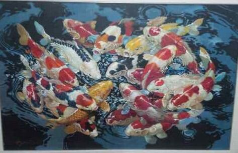 Unity of Koi by Sumantri - Indonesian Collector Art