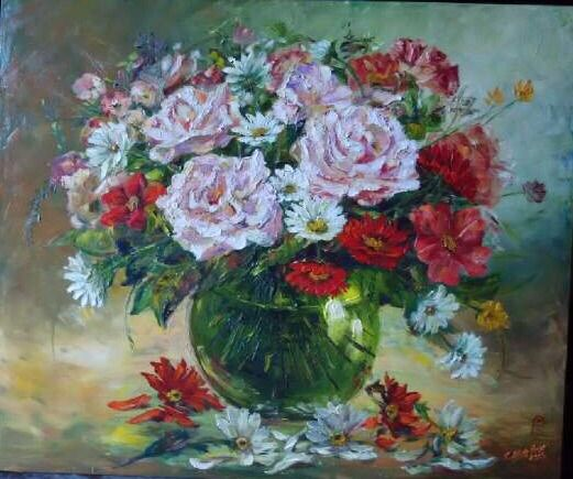 Green Vase of Grace by Chong Hoo - Indonesian Collector Art