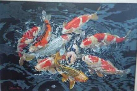 Essence of Koi by Sumantri - Indonesian Collector Art