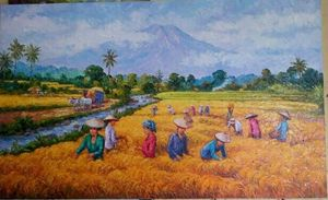 River of Life by Asep Leoka - Indonesian Collector Art