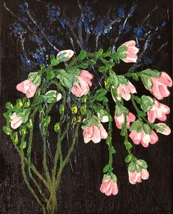 Midnight Pink Flowers - AMO Studio