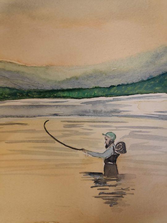 Fishing - Zertab's Watercolor Works