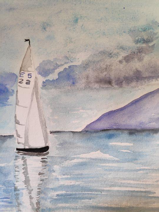 Sailing boat - Zertab's Watercolor Works