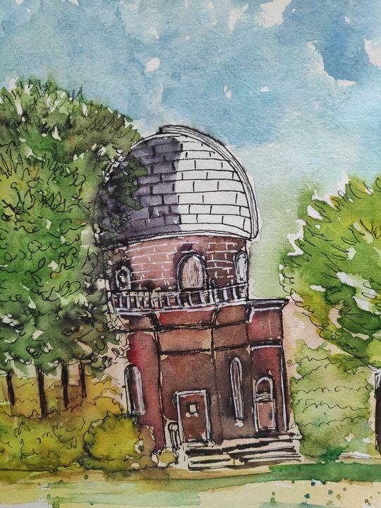 Observatory in Brown University - Zertab's Watercolor Works