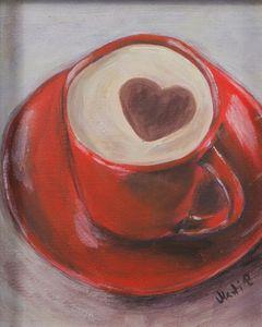 Heart coffe