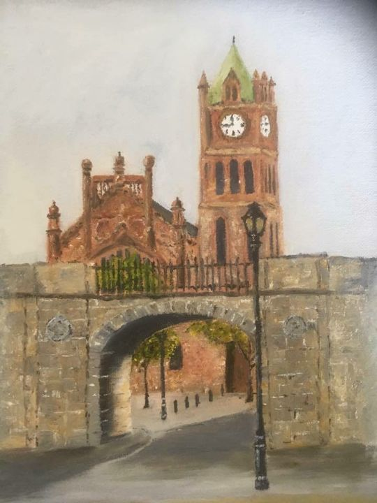 Guildhall and Shipuay Gate, Derry. - Tony McGonagle