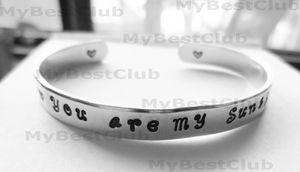 Personalized Aluminum Cuff Bangle