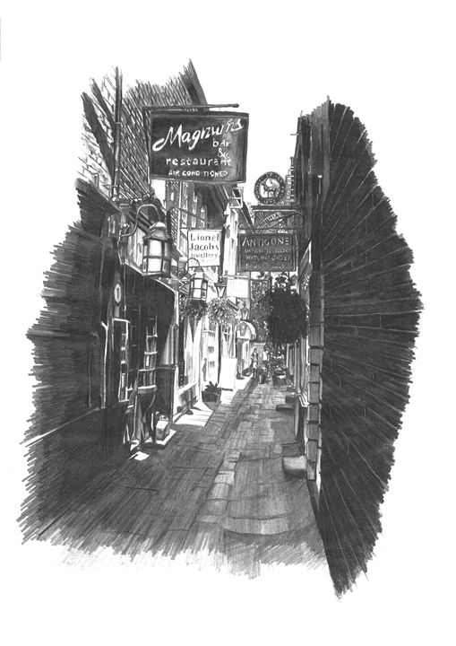 Brewer's Lane, Richmond Upon Thames - Daniel Newbury - Strokes of London