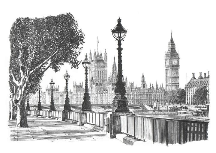 Houses of Parliament, South Bank - Daniel Newbury - Strokes of London