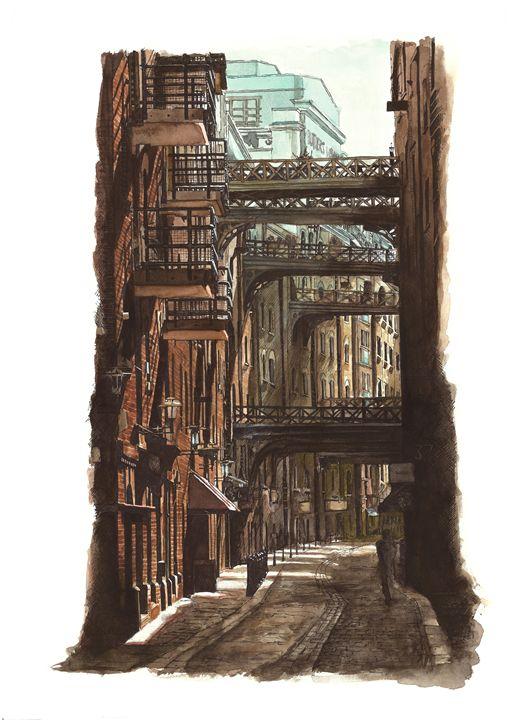 Shad Thames, London - Daniel Newbury - Strokes of London