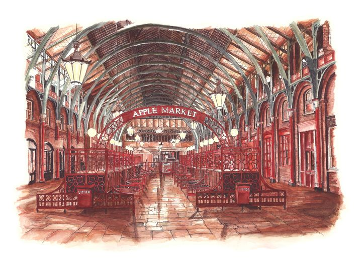 Covent Garden Apple Market, London - Daniel Newbury - Strokes of London