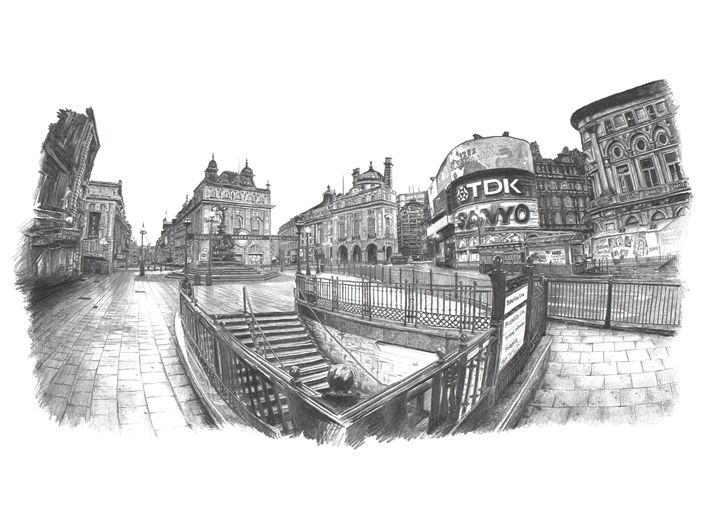 Piccadilly Circus, London - Daniel Newbury - Strokes of London