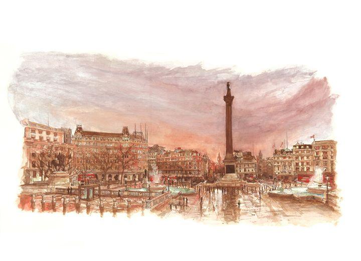 Trafalgar Square, London - Daniel Newbury - Strokes of London