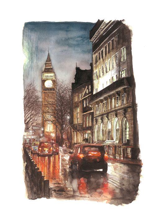 Birdcage Walk, Westminster London - Daniel Newbury - Strokes of London