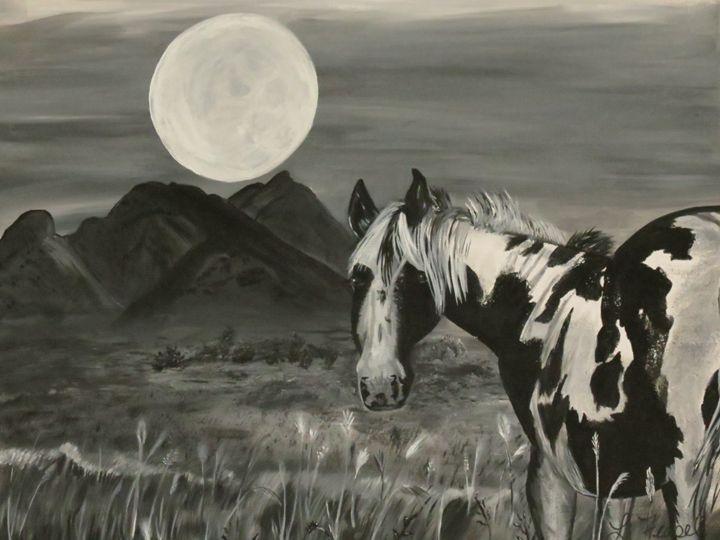 Moon Over Paint - Lj Feasel - Artist