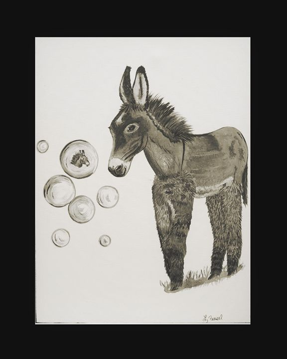 Fun with Bubbles - Burro - Lj Feasel - Artist