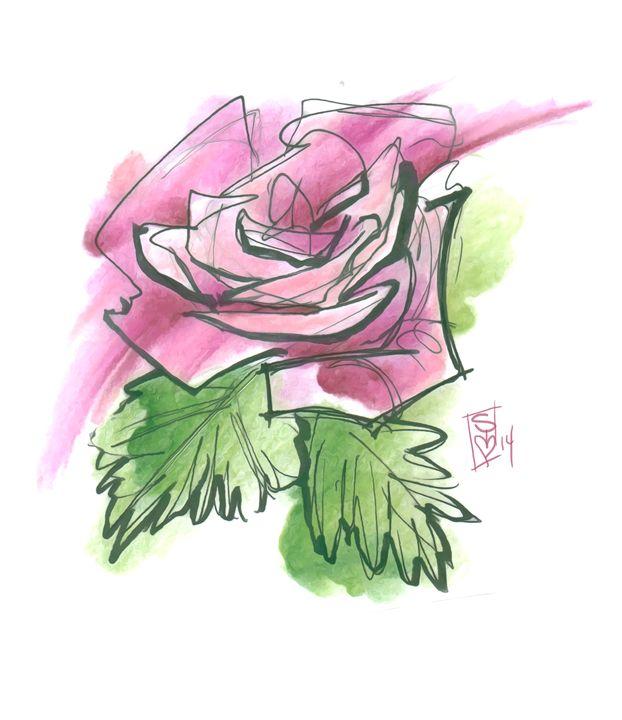 Pink Rose - Sierra Kay Art