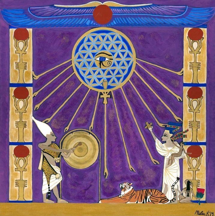Akhenaten and Nefertiti Scene - Malee Kenworthy