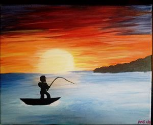 Fishing into the Sunset