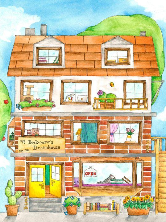 A Bookworm's Dreamhouse - Emily Koballa