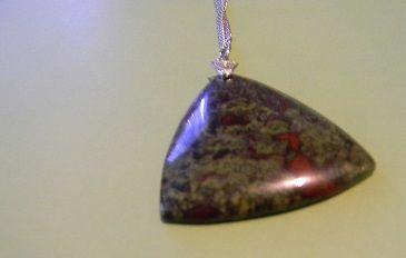 Fuchite & Ruby Triangle Pendant - Auntie Bump's collection