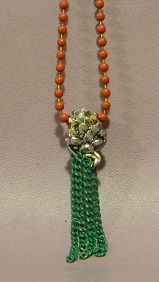 Pine Cone Christmas Necklace - Auntie Bump's collection