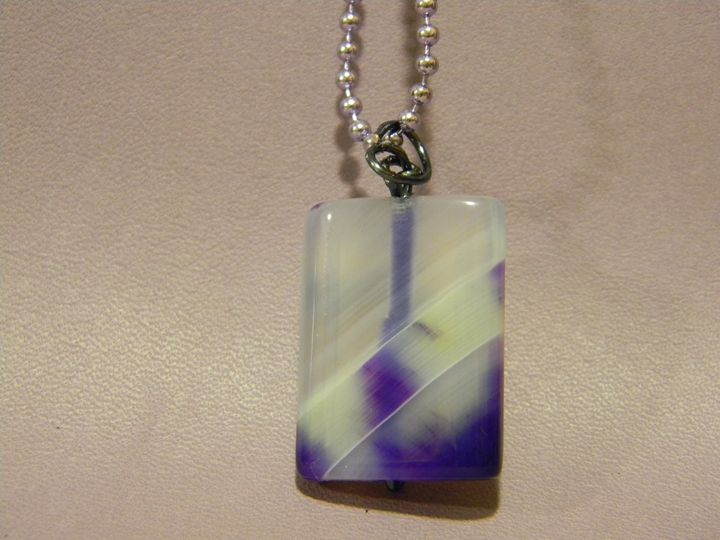 Ameythst Rectange Stone Pendant - Auntie Bump's collection