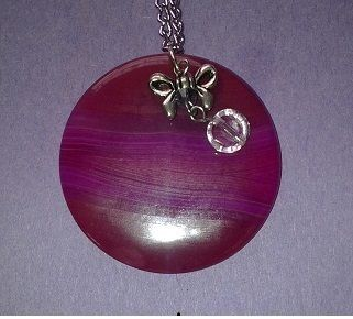 Pink Fused Glass with dangles - Auntie Bump's collection