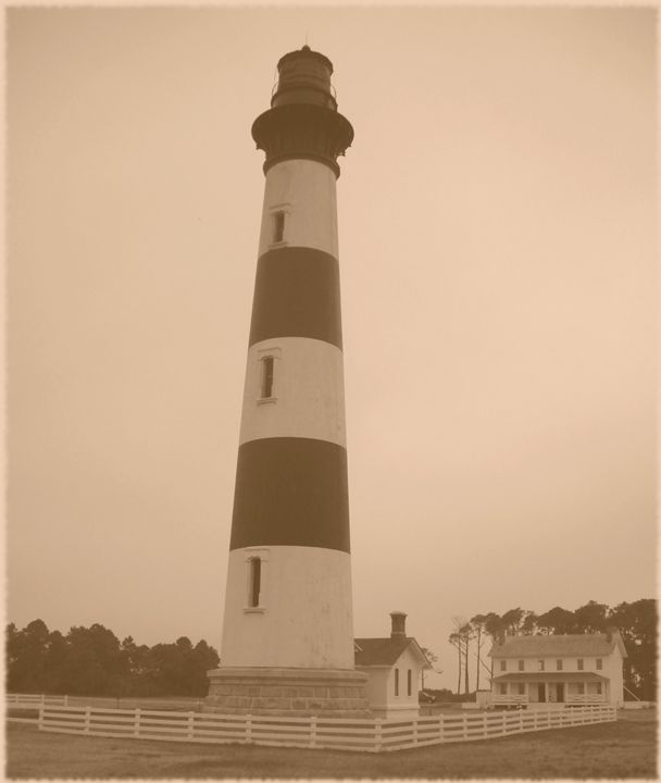 Bodie Island Lighthouse in Sepia - Ren's Lens