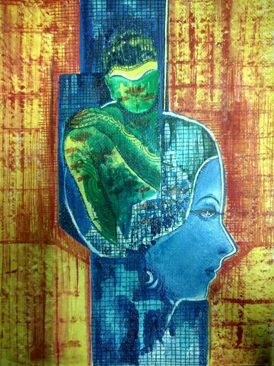 Power to think like Buddha - Paintings by Dr. Anita Varshney (AVA-Art Gallery)