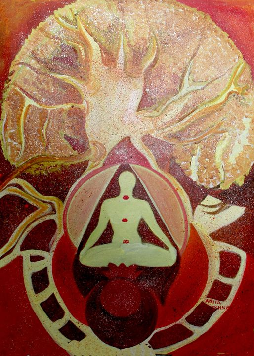 Meditation and the power of healing - Paintings by Dr. Anita Varshney (AVA-Art Gallery)