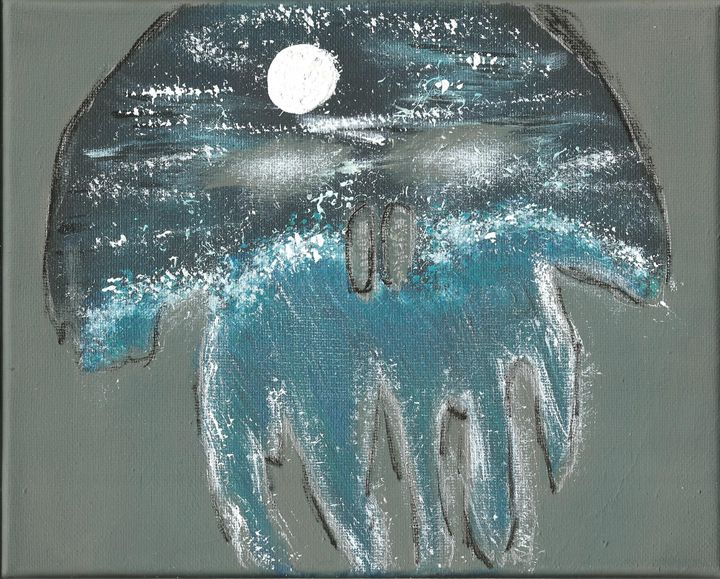 Wave and moon in a skull - Randallflagg