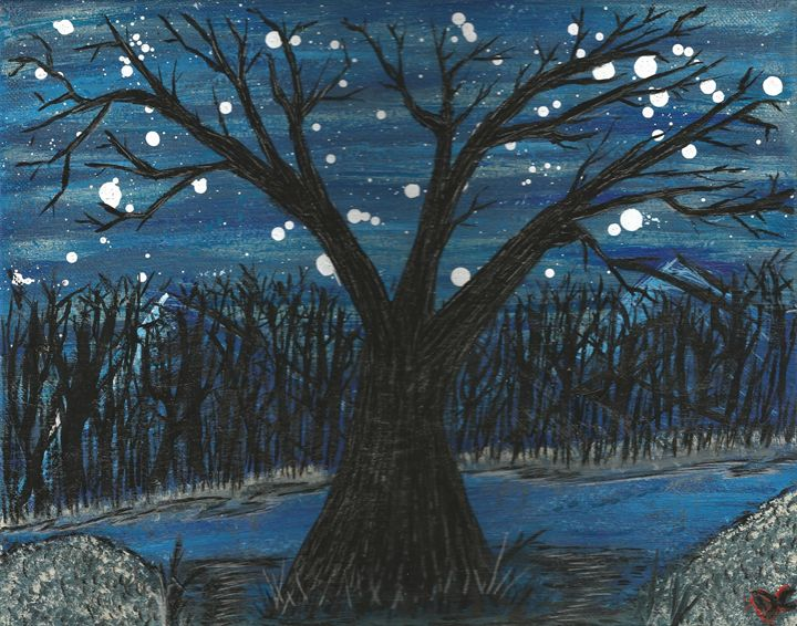 Nightime tree - Randallflagg