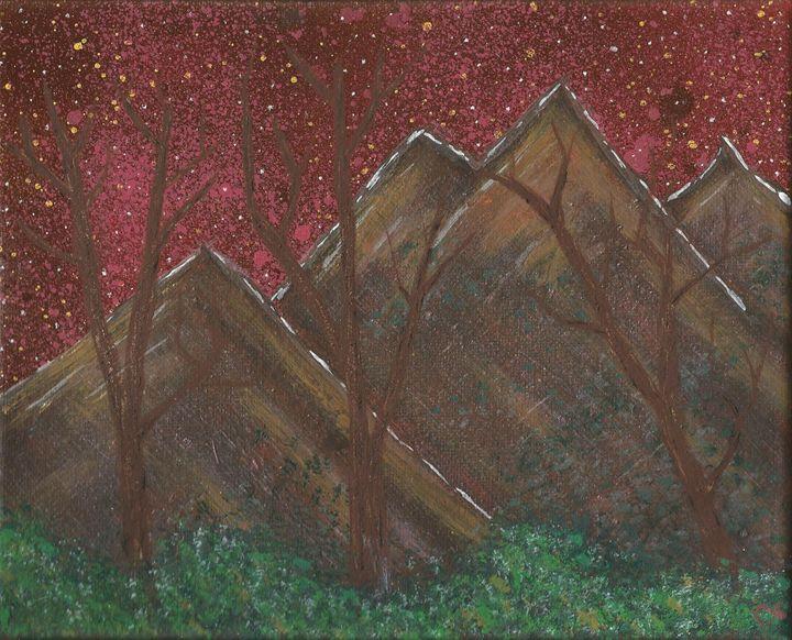 Vibrant sky Mountain - Randallflagg