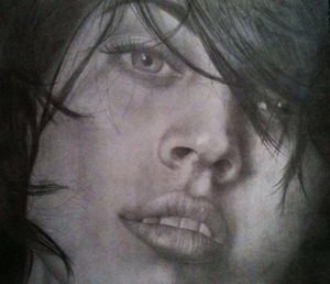 Megan Fox Graphite Drawing